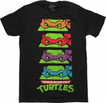 Ninja Turtles Mask Stack T-Shirt