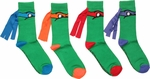 Ninja Turtles Masks Crew 4 Pair Socks Set