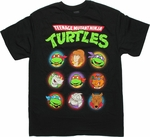 Ninja Turtles Nine Heads T Shirt