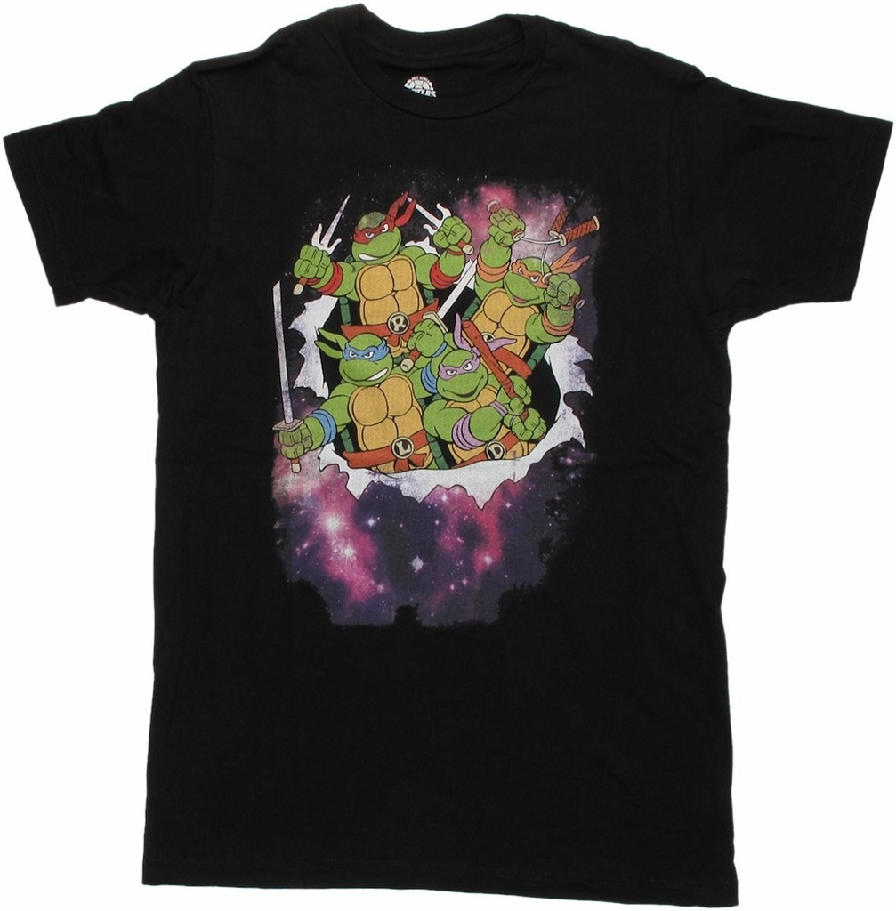 Ninja Turtles Space Burst T Shirt Sheer