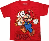 Nintendo Super Mario Around Youth T Shirt