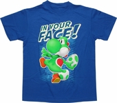 Nintendo Yoshi In Your Face Youth T Shirt