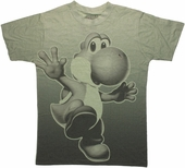 Nintendo Yoshi Shaded Sublimated T Shirt Sheer