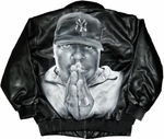 Notorious BIG Pray Faux Leather Jacket