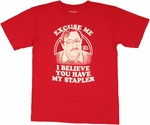 Office Space Milton Stapler T Shirt