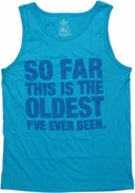 Oldest Ever Blue Tank Top