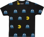 Pacman Spaced All Over T Shirt Sheer