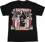 Pantera Dimebag Flag T Shirt