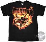 Pantera Flame Guitar T-Shirt