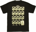 Parks and Recreation Ron Faces T Shirt