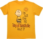 Peanuts Charlie Sunshine T Shirt Sheer