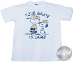 Peanuts Lame T-Shirt Sheer