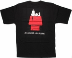 Peanuts Snoopy House Rules T Shirt