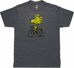Peanuts Woodstock Bike Ride T Shirt Sheer