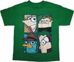 Phineas and Ferb Boxes Youth T Shirt