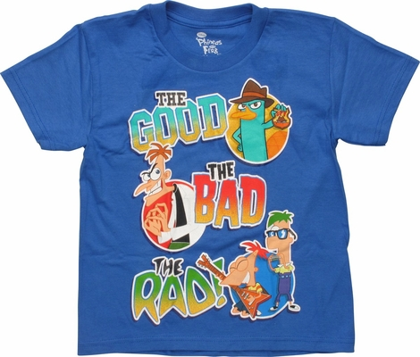 Phineas and Ferb Good Bad and Rad Juvenile T-Shirt