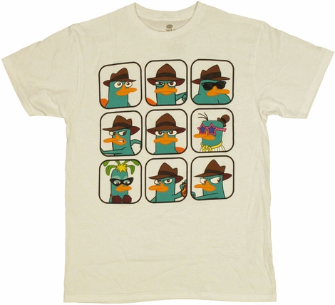 Phineas and Ferb Perry Collage T Shirt Sheer