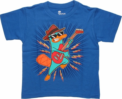 Phineas and Ferb Perry Guitar Juvenile T-Shirt