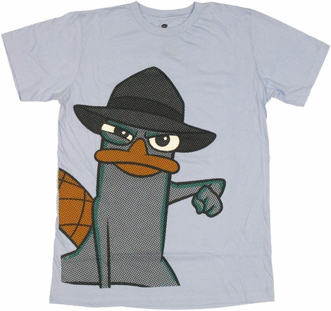 Phineas and Ferb Perry Halftone T Shirt Sheer