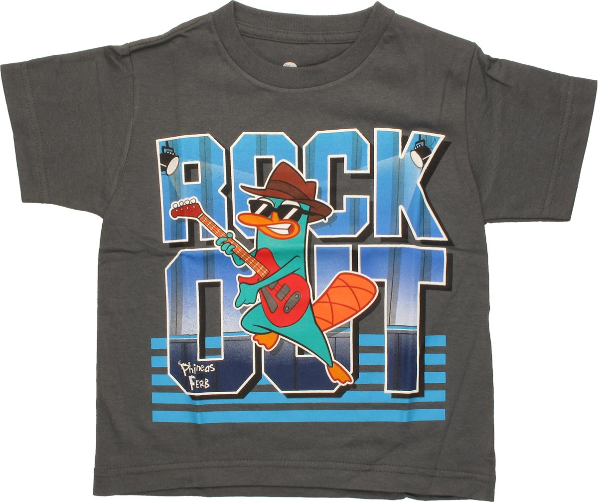 Phineas And Ferb Guitar: Phineas And Ferb Perry Rock Out Juvenile T-Shirt