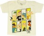 Phineas and Ferb Rectangles Youth T Shirt