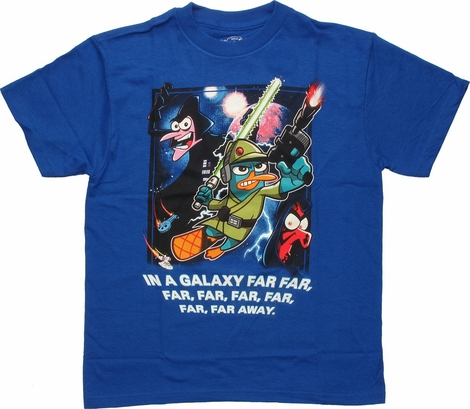 Phineas and Ferb Star Wars Far Away Youth T Shirt