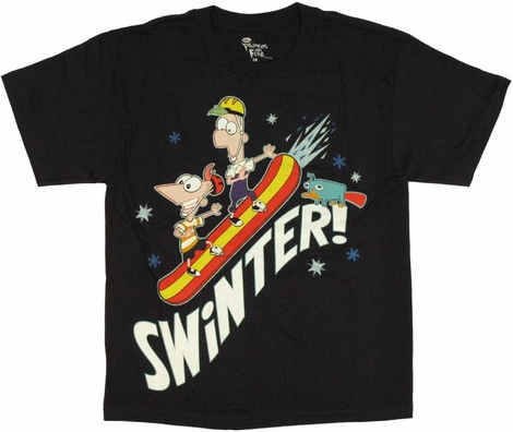 Phineas and Ferb Swinter Youth T-Shirt