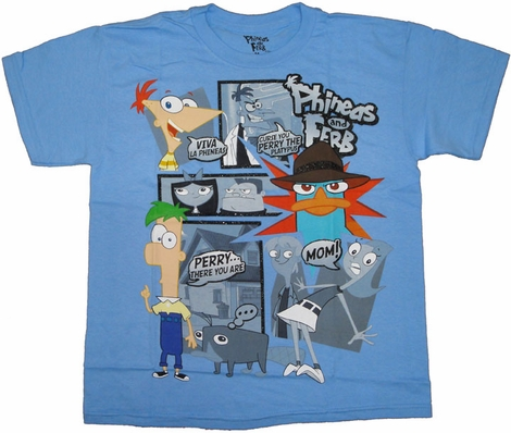 Phineas and Ferb Viva Youth T Shirt