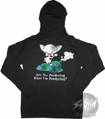 Pinky and the Brain Pondering Zip Hoodie