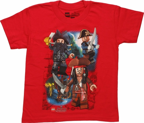 Pirates of Caribbean Lego Captains Toddler T-Shirt