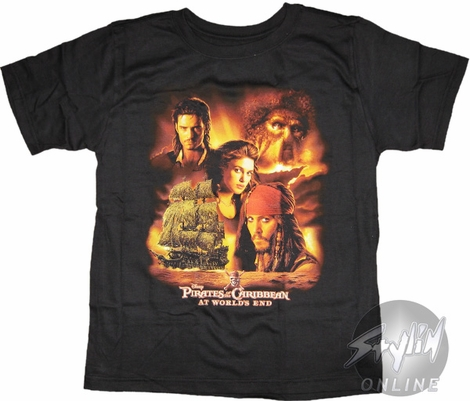 Pirates of the Caribbean Cast Youth T-Shirt