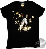 Pirates of the Caribbean Jack and Will Baby Tee