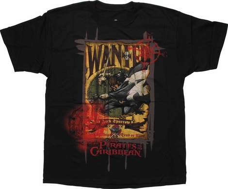 Pirates of the Caribbean Wanted T-Shirt