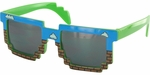 Pixel Bricks Sky Glasses