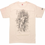 Batman Poison Ivy Sketch T-Shirt