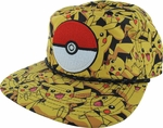 Pokemon All Over Pikachu Sublimated Hat