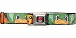 Pokemon Black/White Characters Squares Seatbelt Mesh Belt