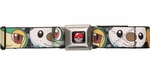 Pokemon Black/White Faces Seatbelt Mesh Belt