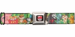 Pokemon Black/White Group Green Seatbelt Belt