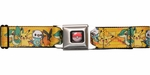 Pokemon Black/White Pikachu and Starter Pokemon Seatbelt Mesh Belt
