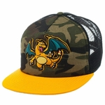 Pokemon Charizard Camo Trucker Hat