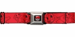 Pokemon Charmander Outlines Seatbelt Mesh Belt