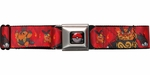 Pokemon Generation 5 Tepig Evolution Fire Seatbelt Mesh Belt