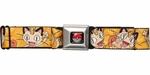 Pokemon Meowth Yellow Seatbelt Belt