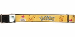 Pokemon Name and Pikachu Lightning Bolts Mesh Belt