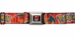 Pokemon Name Charizard Seatbelt Mesh Belt