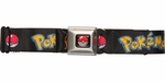 Pokemon Name Pikachu and Pokeball Seatbelt Mesh Belt