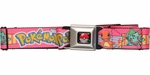 Pokemon Pikachu and Original Starter Pokemon Seatbelt Mesh Belt