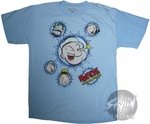 Popeye Circle Faces Youth T-Shirt