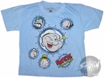 Popeye Circled Faces Juvenile T-Shirt
